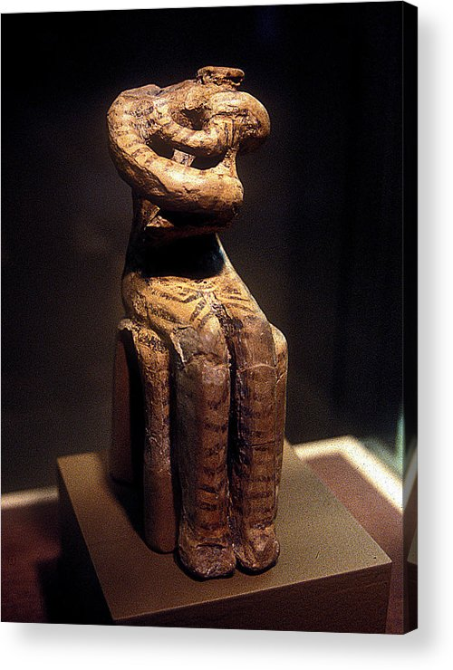 Neolithic Idol Acrylic Print featuring the photograph Neolithic Nurse by Andonis Katanos
