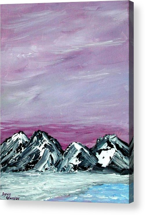 Landscape Acrylic Print featuring the painting Nevada Sky by Margie Byrne