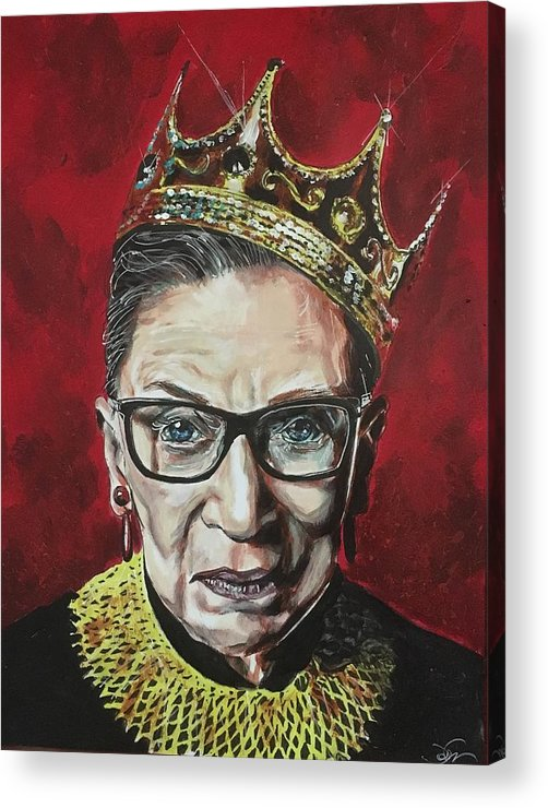 Ruth Bader Ginsburg Acrylic Print featuring the painting Notorious Rbg by Joel Tesch