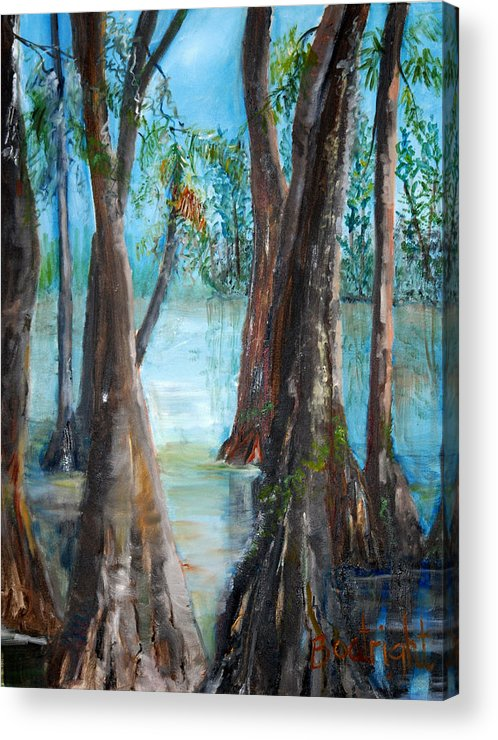 Diane Boatright Acrylic Print featuring the painting Old Men by Diane Fiore