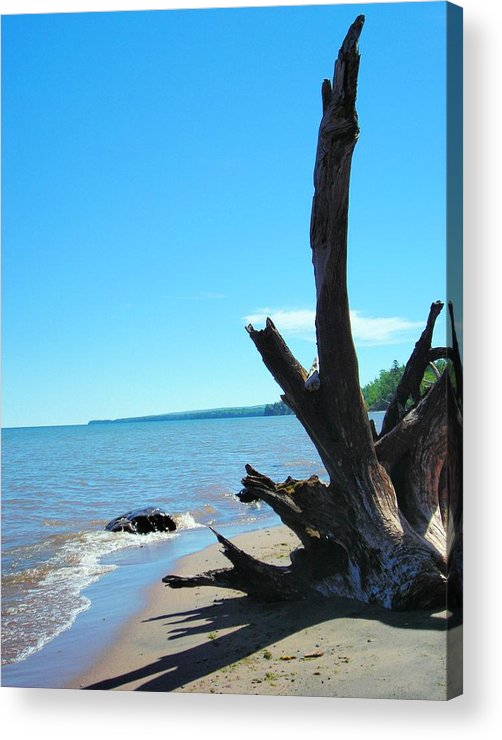 Landscape Acrylic Print featuring the photograph On The Water Front by Peter Mowry