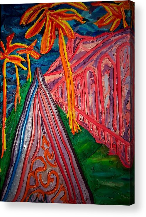 Acrylic Print featuring the painting Palm Beach Way by Ira Stark