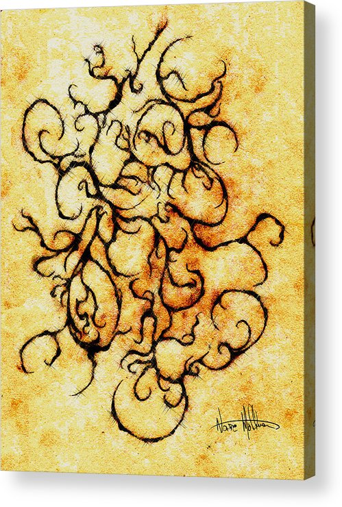 Squiggly Acrylic Print featuring the digital art Parchment by Nathaniel Hoffman