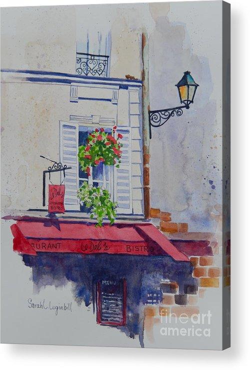Paris Deli Acrylic Print featuring the painting Paris Deli by Sarah Luginbill