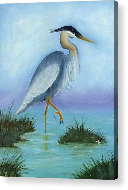 Fowl Acrylic Print featuring the print Patience by Mary Gaines