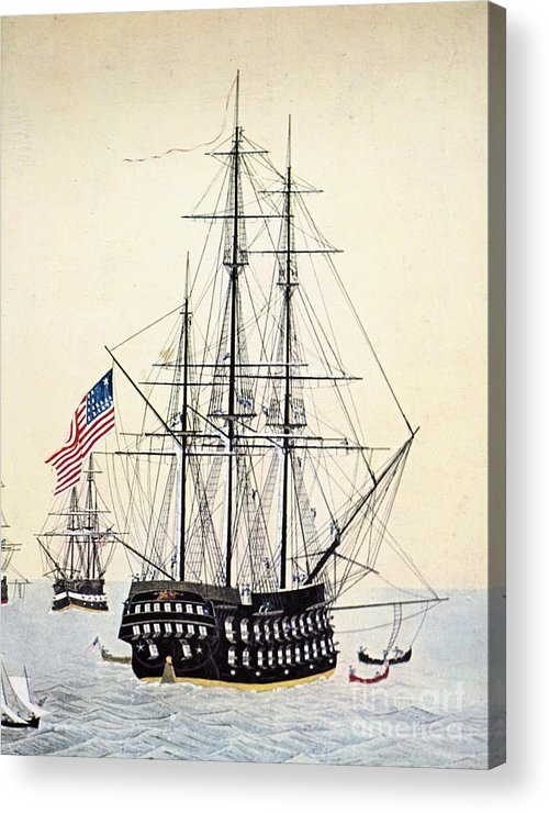 1854 Acrylic Print featuring the painting Perrys Expedition To Japan by Granger