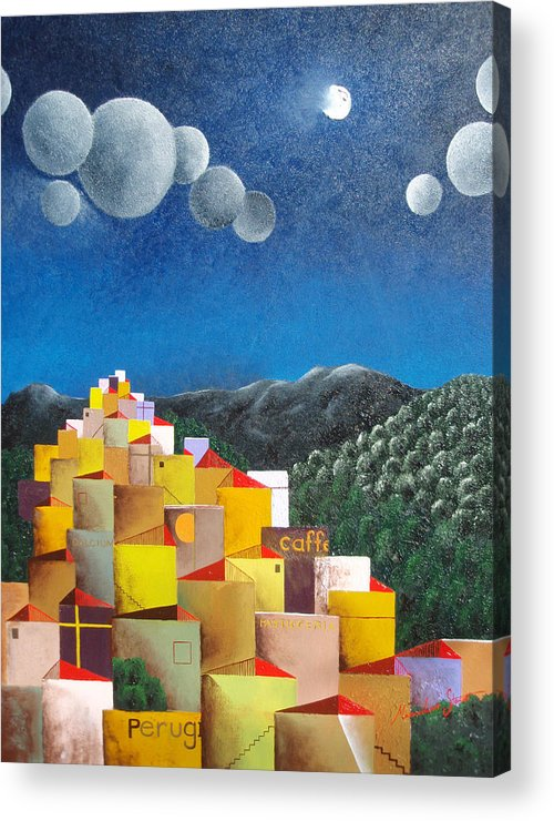 Italy Acrylic Print featuring the painting Perugia by Massimiliano Stanco