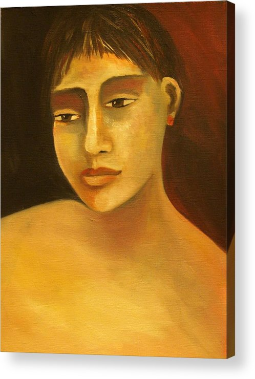 Portrait Acrylic Print featuring the painting Portrait Number Eight by Niki Sands