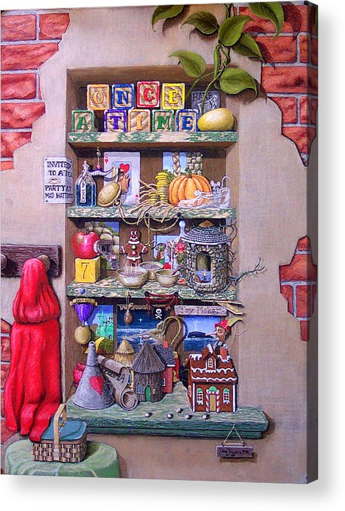 Still Life Acrylic Print featuring the painting Portrait Of A Storyteller by David Francis