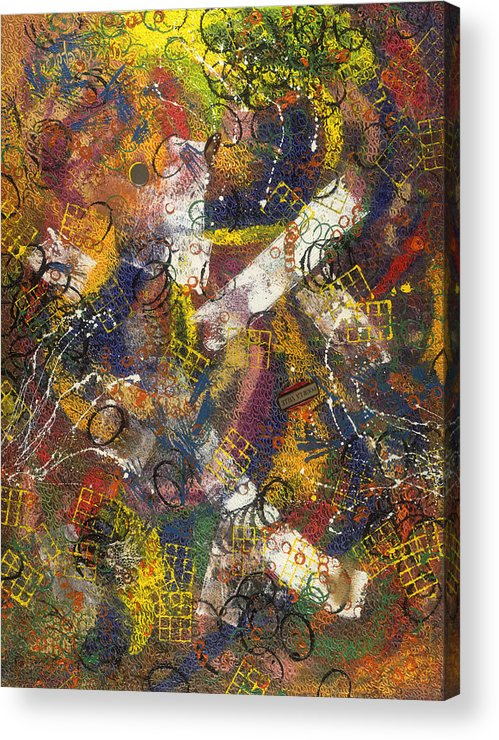 Abstract Acrylic Print featuring the painting Pour La Ville by Dominique Boutaud