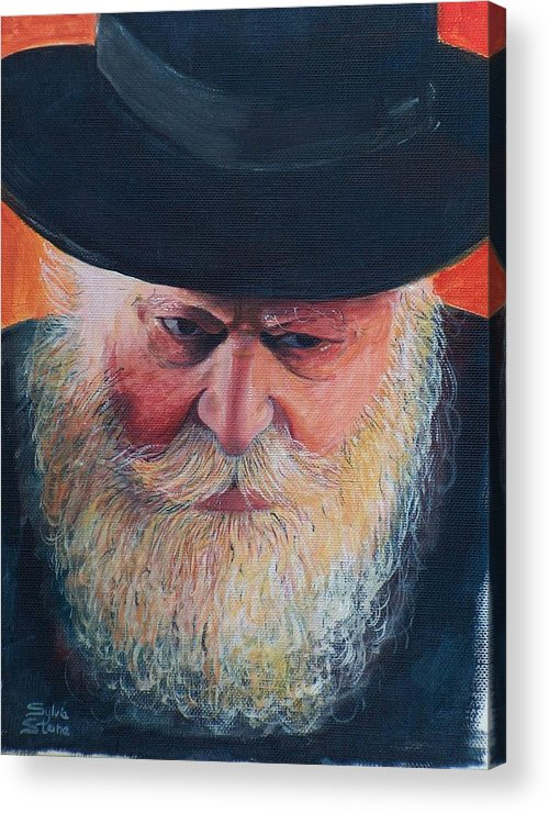 Rebbe Acrylic Print featuring the painting Rebbe by Sylvia Stone