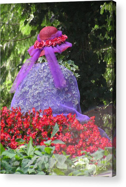 Red Hat Acrylic Print featuring the photograph Red Hat Veil by Louise Magno