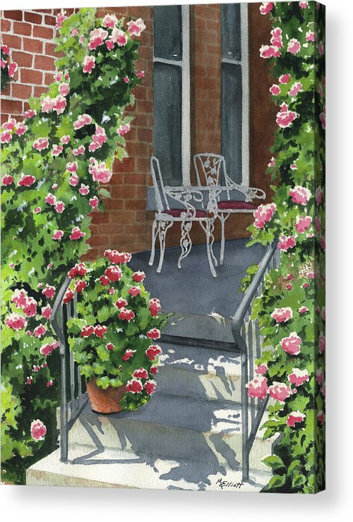 Roses Acrylic Print featuring the painting Roses On High St by Marsha Elliott