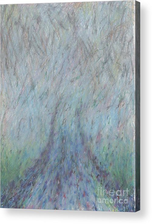 Fog Acrylic Print featuring the drawing Running Into Fog by Andy Mercer
