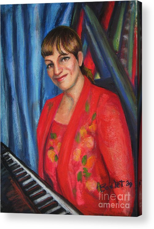 Musician Acrylic Print featuring the painting Sally Ann by Beverly Boulet