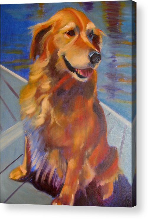 Golden Retriever Acrylic Print featuring the painting Sasha by Kaytee Esser