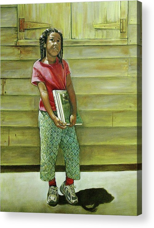 Kids Acrylic Print featuring the painting School Daze by Curtis James