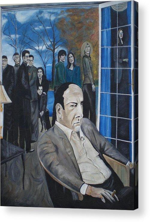 Tony Soprano Acrylic Print featuring the painting Sopranos by Colin O neill