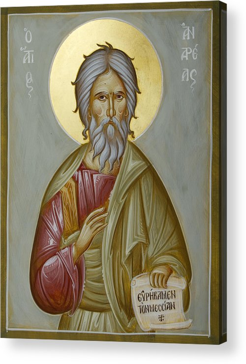 Icon Acrylic Print featuring the painting St Andrew The Apostle And First-called by Julia Bridget Hayes