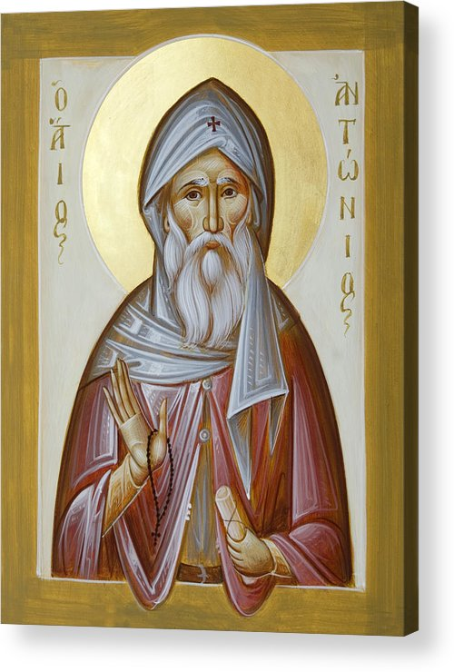 St Anthony The Great Acrylic Print featuring the painting St Anthony The Great by Julia Bridget Hayes