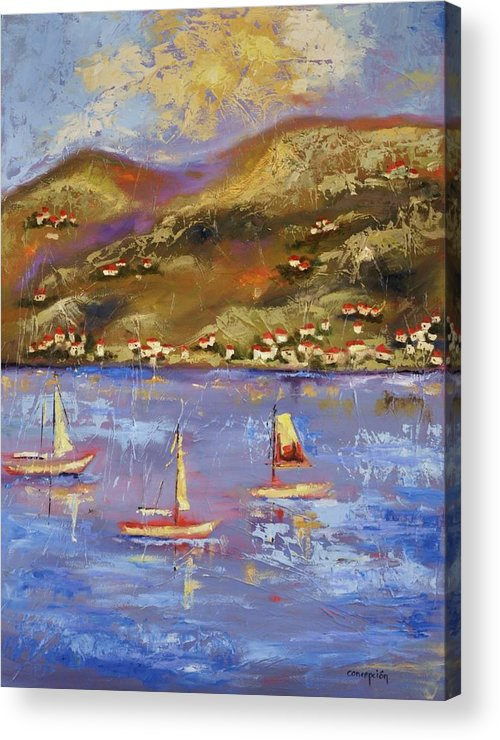 St. John Acrylic Print featuring the painting St. John Usvi by Ginger Concepcion