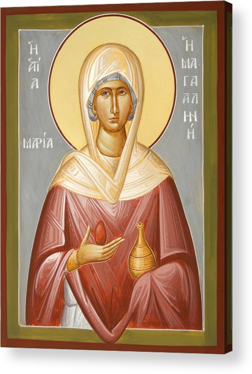 St Mary Magdalene Acrylic Print featuring the painting St Mary Magdalene by Julia Bridget Hayes