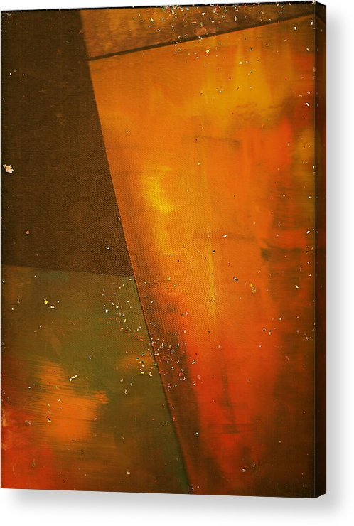 Golden Acrylic Print featuring the painting Take A Sip Of The Golden Hour by Anne-Elizabeth Whiteway