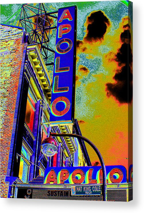 Harlem Acrylic Print featuring the photograph The Apollo by Steven Huszar