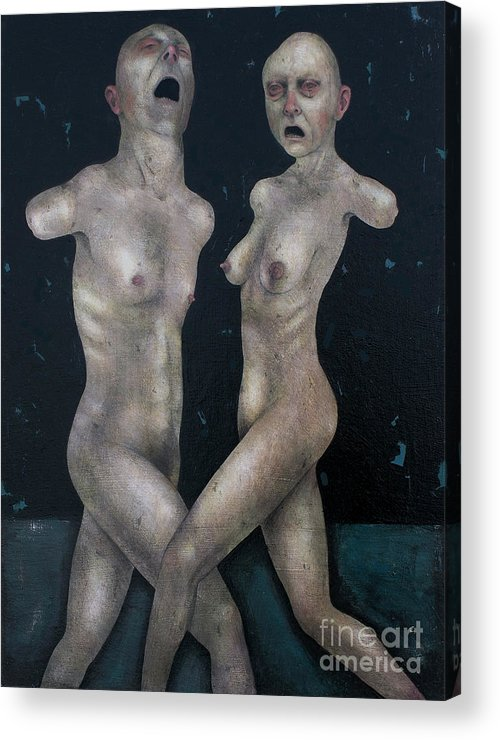 Dancing Acrylic Print featuring the painting The Lovers by Craig LaRotonda
