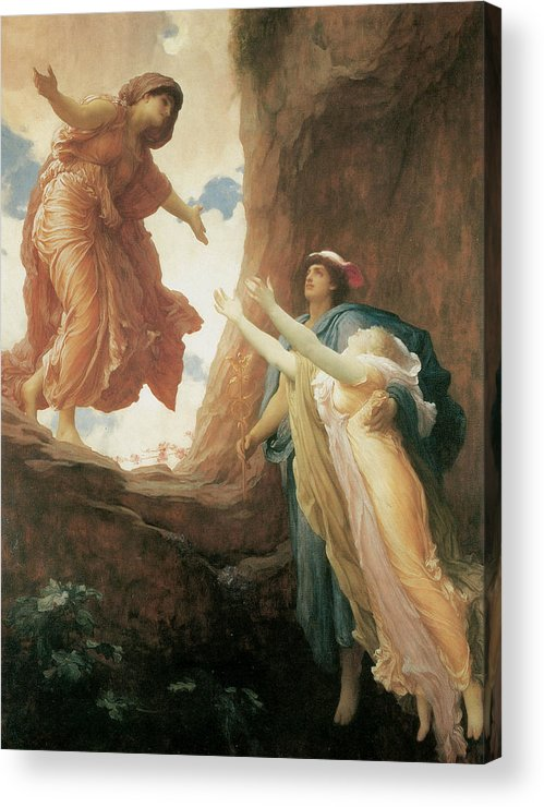 Frederick Leighton Acrylic Print featuring the painting The Return Of Persephone by Frederick Leighton