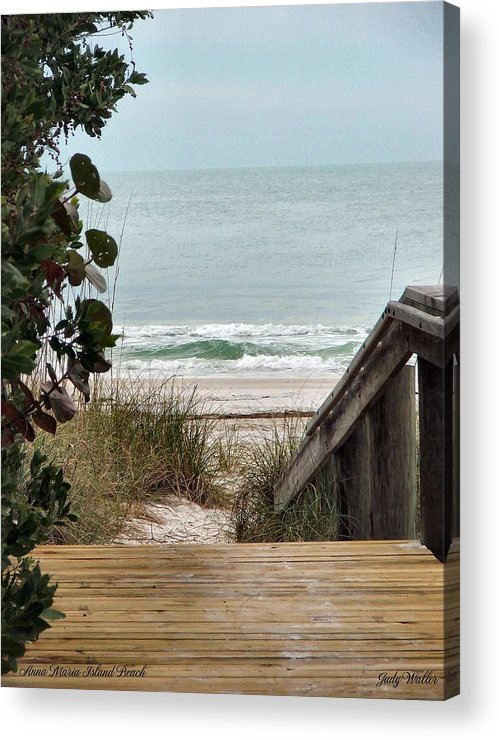 Beach Acrylic Print featuring the photograph The Walkway To The Beach by Judy Waller