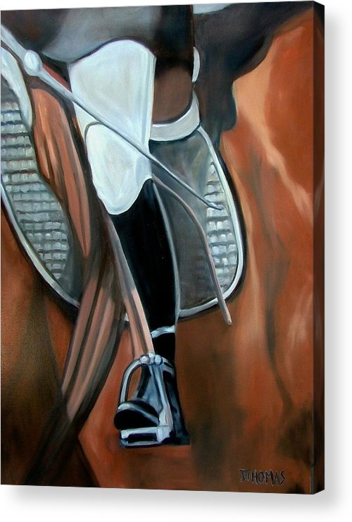 Horse Acrylic Print featuring the painting The Whip by Donna Thomas