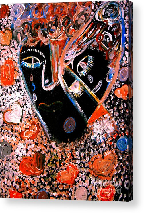 Psychedelic Acrylic Print featuring the painting This Is Not Love Dear by Safak Tulga