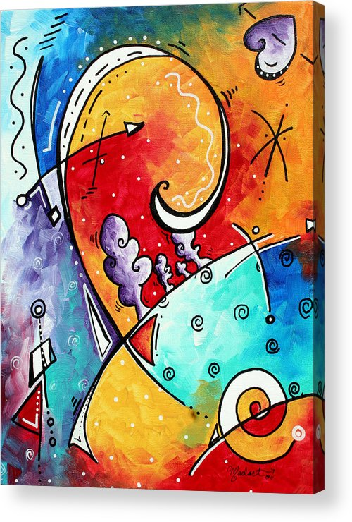 Original Acrylic Print featuring the painting Tickle My Fancy Original Whimsical Painting by Megan Duncanson