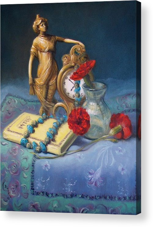 Realism Acrylic Print featuring the painting Timekeeper by Donelli DiMaria