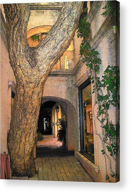 Sedona Acrylic Print featuring the photograph Tlaquepaque Village Tree  by Leo Gordon