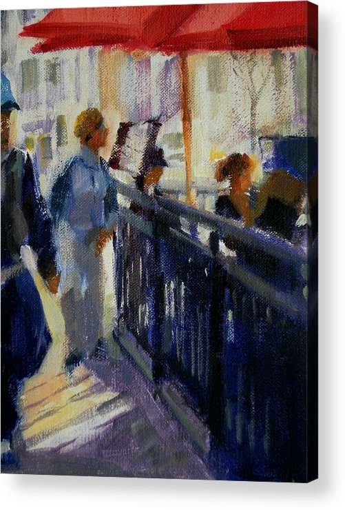 Cityscape Acrylic Print featuring the painting Today by Merle Keller