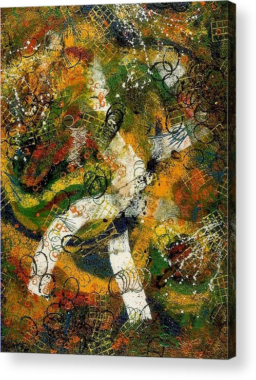 Abstract Acrylic Print featuring the painting Tres Distingue by Dominique Boutaud