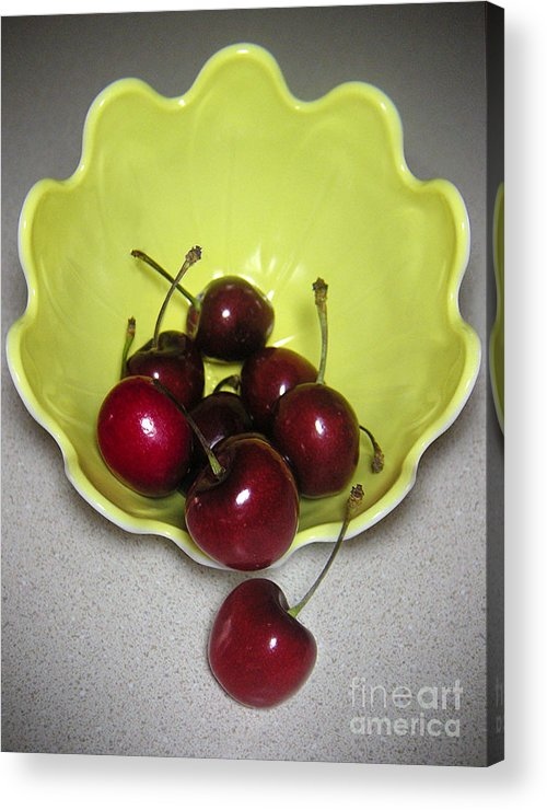 Nature Acrylic Print featuring the photograph Tumbling Cherries by Lucyna A M Green