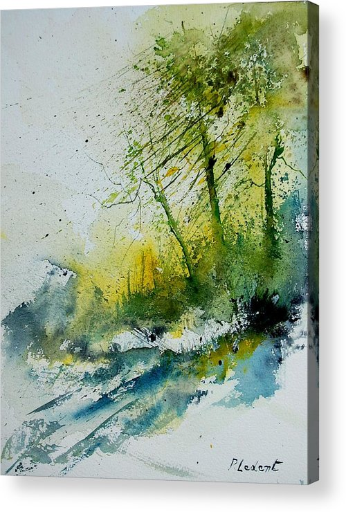 River Acrylic Print featuring the painting Watercolor 181207 by Pol Ledent