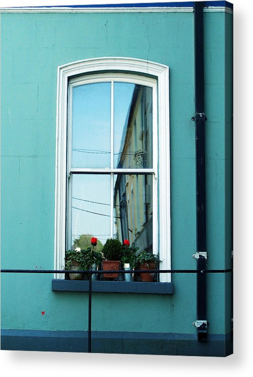Irish Acrylic Print featuring the photograph Window In Ennistymon Ireland by Teresa Mucha