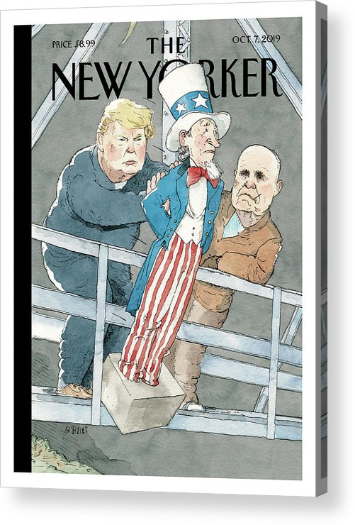 Whack Job Acrylic Print featuring the painting Whack Job by Barry Blitt