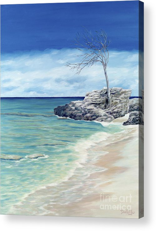 Beach Acrylic Print featuring the painting Against The Wind by Danielle Perry