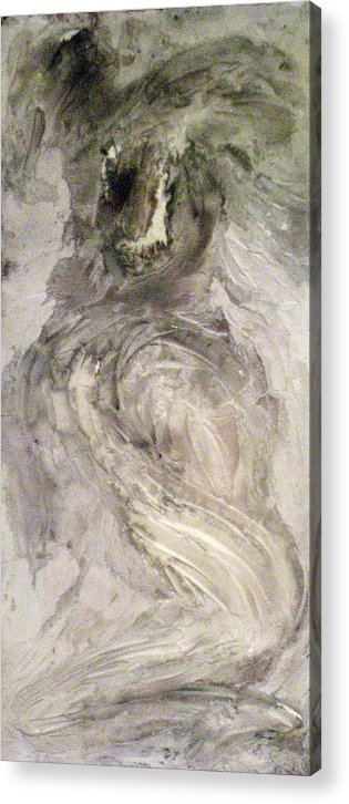 Portraits Acrylic Print featuring the painting Hawkhair by Kime Einhorn