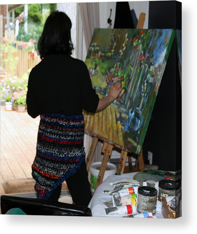 Behind The Scene Acrylic Print featuring the photograph Painting My Backyard 1 by Becky Kim