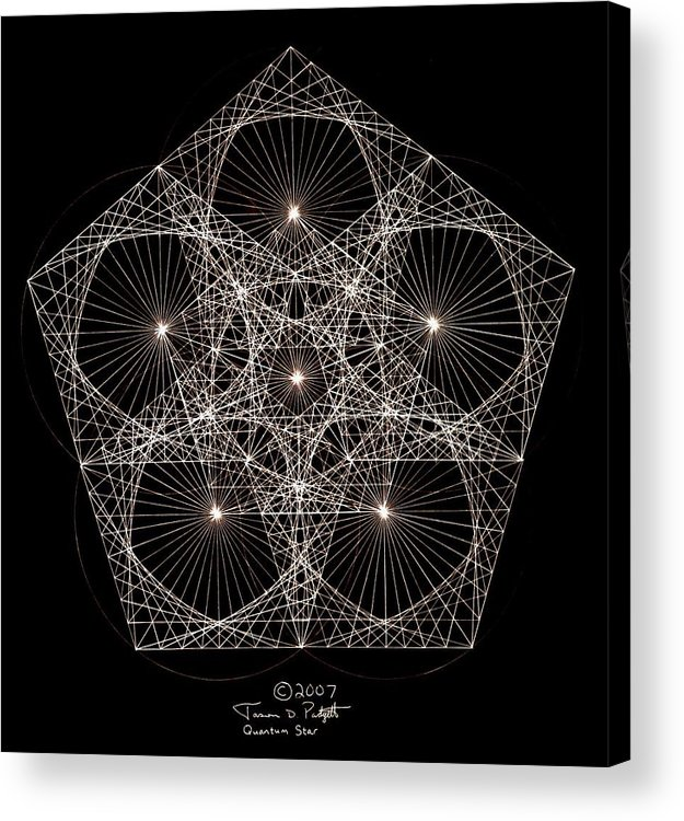 Star Acrylic Print featuring the drawing Quantum Star II by Jason Padgett