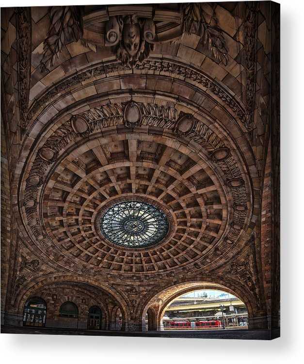 Rotunda Acrylic Print featuring the photograph Union Station Rotunda by Brian Archer