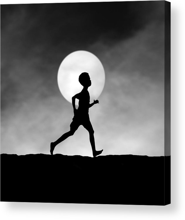 Boy Acrylic Print featuring the photograph The Dream Catcher by Hengki Lee