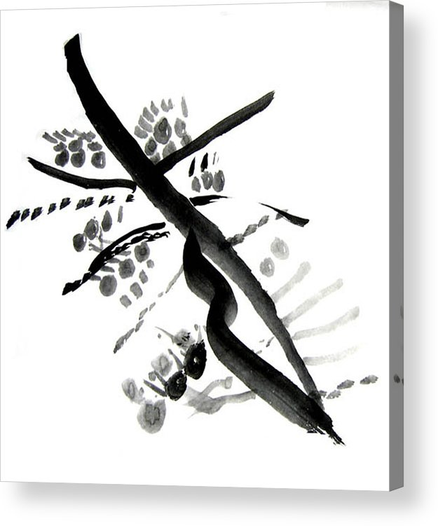 Chinese Brush Acrylic Print featuring the painting Chinese Brush Ll by Teri Ann Foley