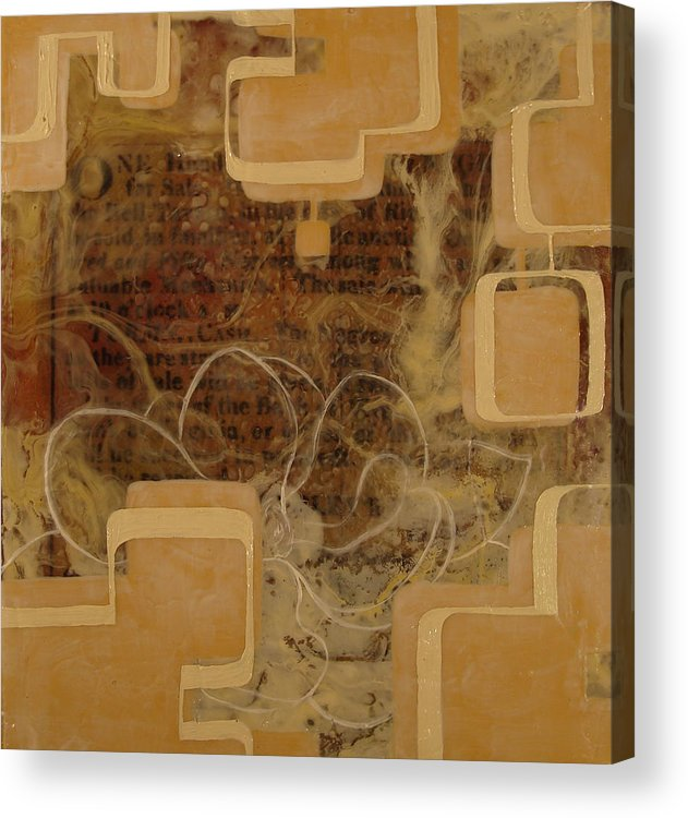 Abstract Acrylic Print featuring the painting Long Gone And Far Away by Monica James